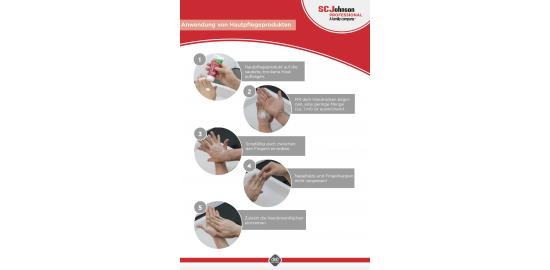 Anwendungsflyer Handpflege